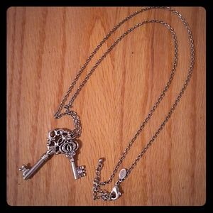 American Eagle key necklace